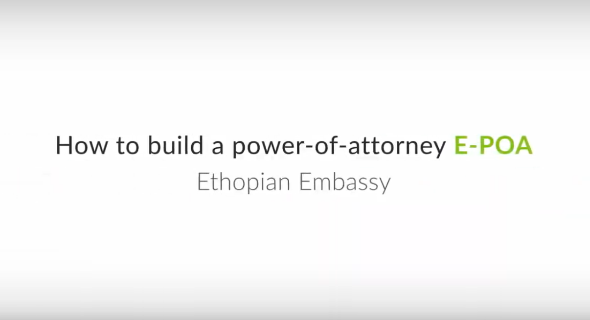 How to build a power of attorney using the platform